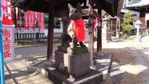 千束稲荷神社 狐像 (1)