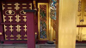 上野東照宮 唐門内側 降り龍