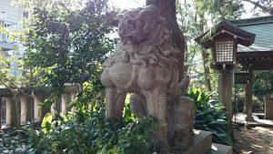 奥澤神社 狛犬 阿