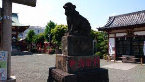 羽田神社 狛犬 阿