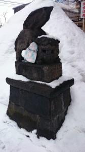 北海道神宮頓宮 北海道最古狛犬 (1)