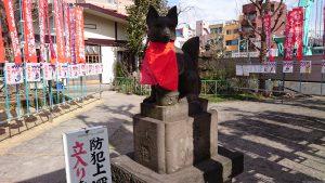 千束稲荷神社 狐像 (2)