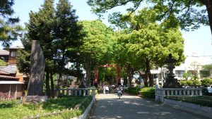 氷川神社 二の鳥居と社号碑