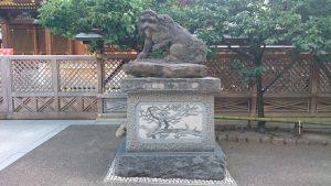 湯島天満宮(湯島天神) 狛犬 阿