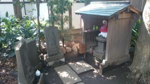 奥澤神社 庚申塔と子育地蔵