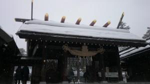 北海道神宮 神門アップ