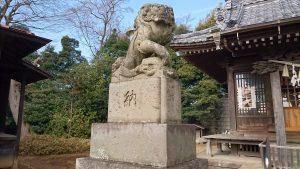 尾山台宇佐神社 狛犬 吽