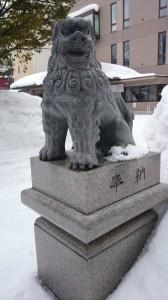 北海道神宮頓宮 狛犬 (1)