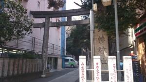 御田八幡神社 鳥居と社号碑