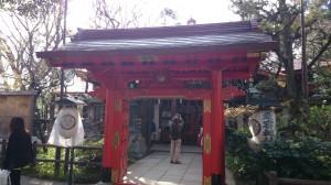 (芝)愛宕神社 丹塗りの門