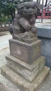 瀬田玉川神社 狛犬 (1)
