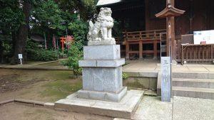 玉川神社 拝殿前狛犬 吽