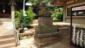 玉川神社 参道狛犬 阿 (大正4年)