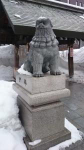 北海道神宮頓宮 狛犬 (2)