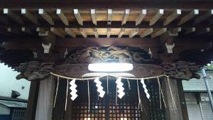 駒繋神社 招魂社彫刻