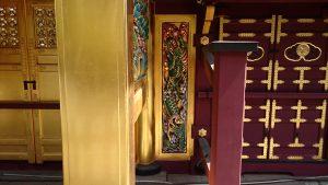 上野東照宮 唐門内側 昇り龍