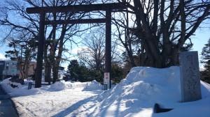 月寒神社 鳥居と社号碑
