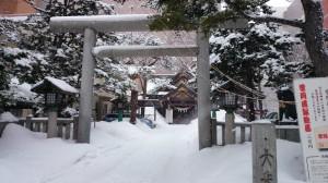 札幌三吉神社 鳥居