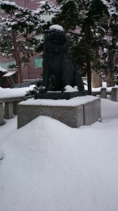 札幌三吉神社 狛犬 (2)
