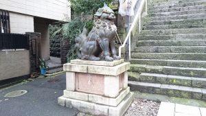 (芝)愛宕神社 狛犬阿像