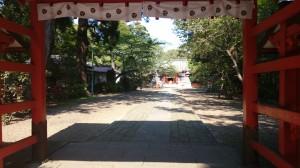 息栖神社 神門奥の参道