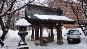 札幌彌彦神社 手水舎