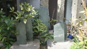 亀塚稲荷神社 港区文化財 弥陀種子板碑