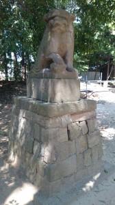 中山神社 狛犬 (1)