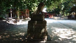 中山神社 明治3年狛犬 吽