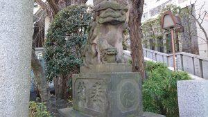 雉子神社 狛犬 吽