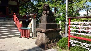 多摩川浅間神社 狛犬 阿