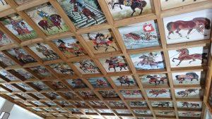 矢先稲荷神社 拝殿天井絵馬図 (2)