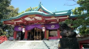 多摩川浅間神社 拝殿