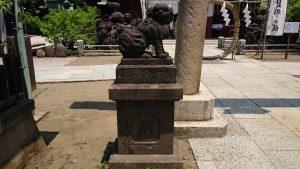 素盞雄神社 南鳥居前狛犬 吽