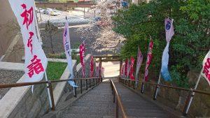 上目黒氷川神社 参道石段
