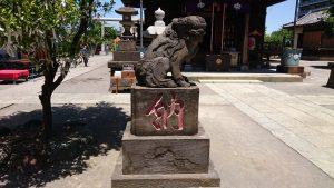 胡録神社 天保10年狛犬 吽
