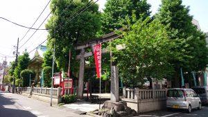 矢先稲荷神社 社頭