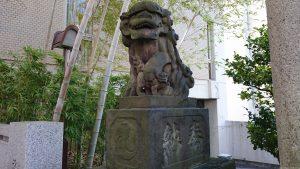 雉子神社 狛犬 阿