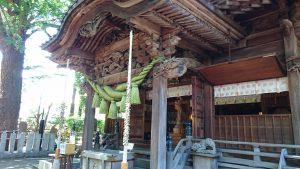 田無神社 拝殿向拝部彫刻