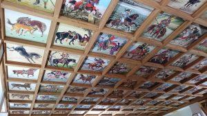 矢先稲荷神社 拝殿天井絵馬図 (3)