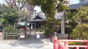 荏原神社 社号碑