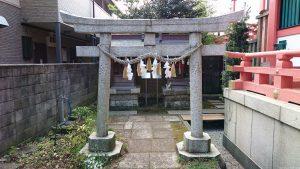 松原菅原神社 境内社御嶽神社・稲荷神社 鳥居