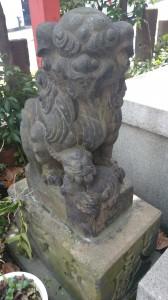 亀塚稲荷神社 狛犬 吽