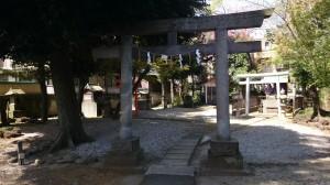 駒留八幡神社 境内社前鳥居