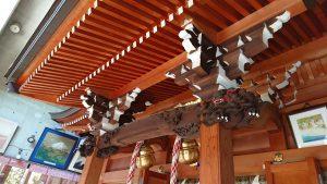 元神明宮 向拝彫刻