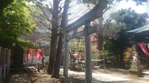 久富稲荷神社 拝殿前鳥居
