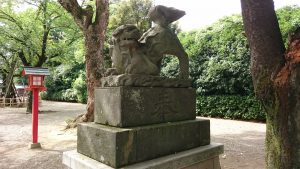 鷲宮神社 嘉永5年狛犬 阿