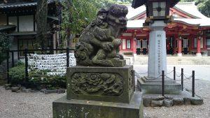 世田谷八幡宮 狛犬 吽