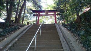 氷川女體神社 参道石段