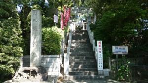 多摩川浅間神社 鳥居と社号標
